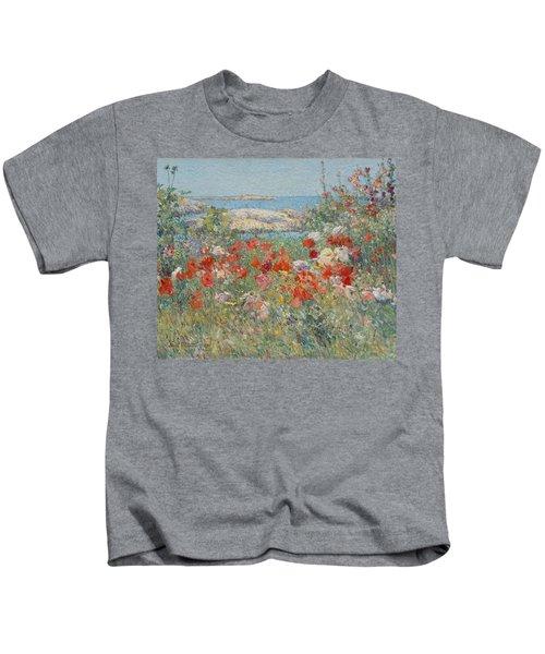 Celia Thaxter's Garden, Isles Of Shoals, Maine Kids T-Shirt