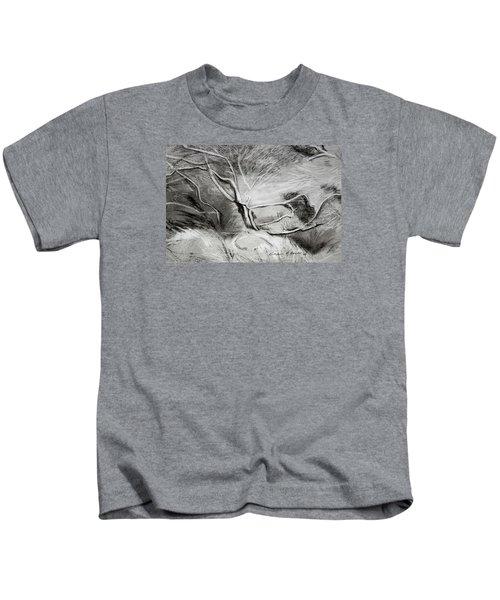 Charcoal Tree Kids T-Shirt
