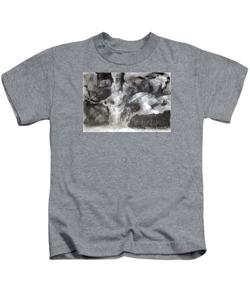 Charcoal Waterfall Kids T-Shirt