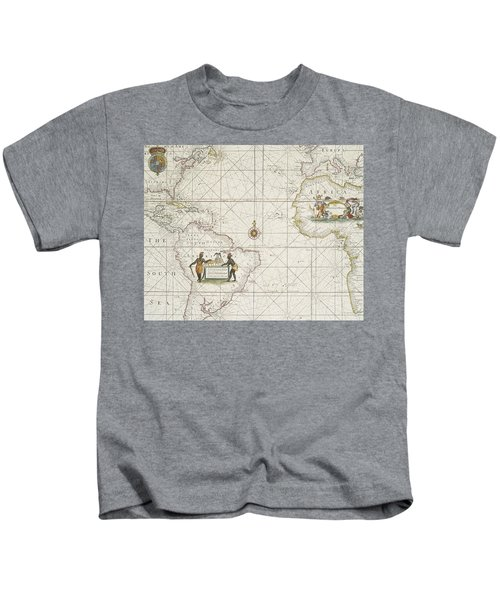 Chart Of The Atlantic Ocean Kids T-Shirt