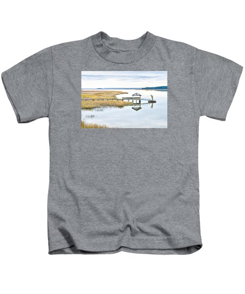 Chechessee Creek Dock Kids T-Shirt