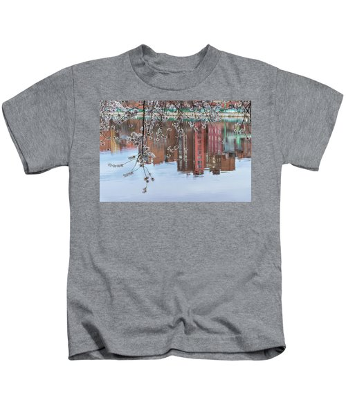 Cherry Blossom Reflections Kids T-Shirt
