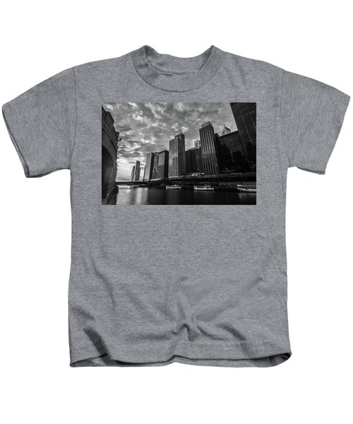 Chi Sunrise Black And White Kids T-Shirt