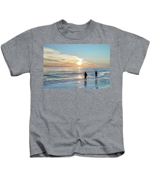 Children At Play On A Florida Beach  Kids T-Shirt