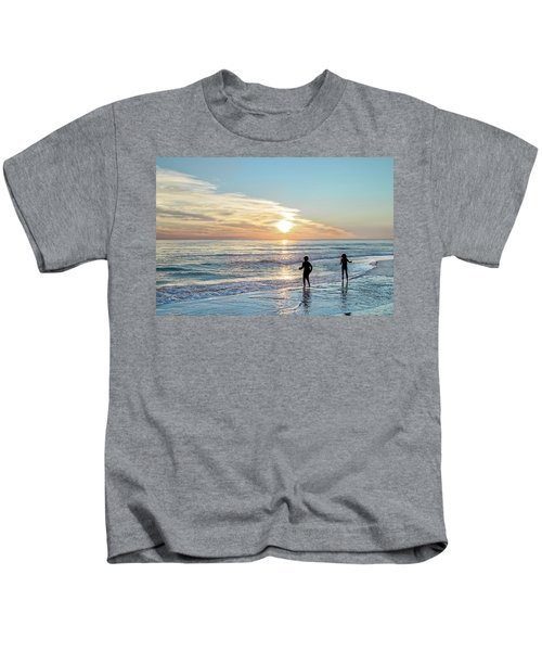 Children At Play On A Florida Beach  Kids T-Shirt