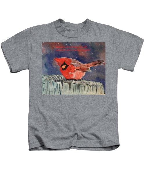 Chilly Bird Christmas Card Kids T-Shirt