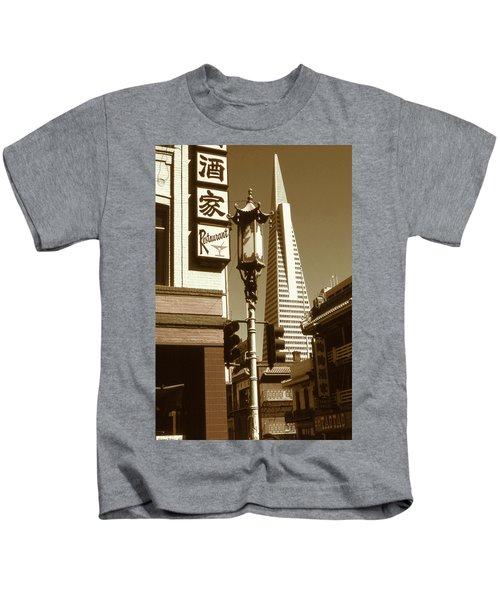 Chinatown San Francisco - Vintage Photo Art Kids T-Shirt