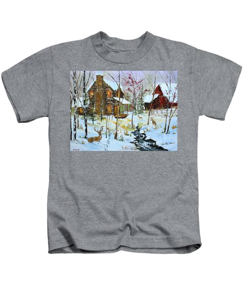 Christmas Cabin Kids T-Shirt