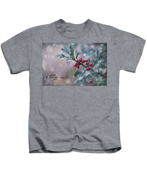 Christmas Holly Kids T-Shirt