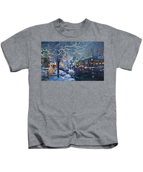 Christmas Lights In Elmwood Ave  Kids T-Shirt