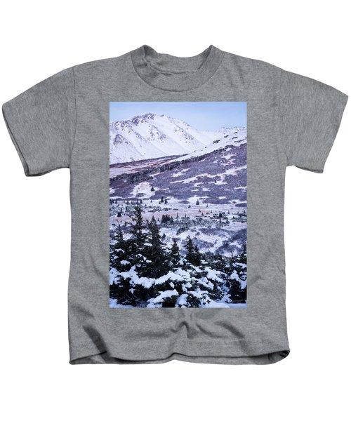 Chugach In Alpenglow Kids T-Shirt