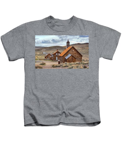 Church At Bodie Ghost Town Kids T-Shirt