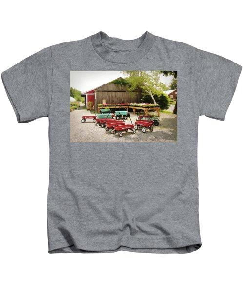 Circle The Wagons Kids T-Shirt