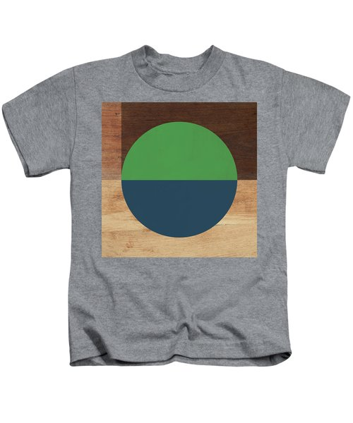 Cirkel Blue And Green- Art By Linda Woods Kids T-Shirt