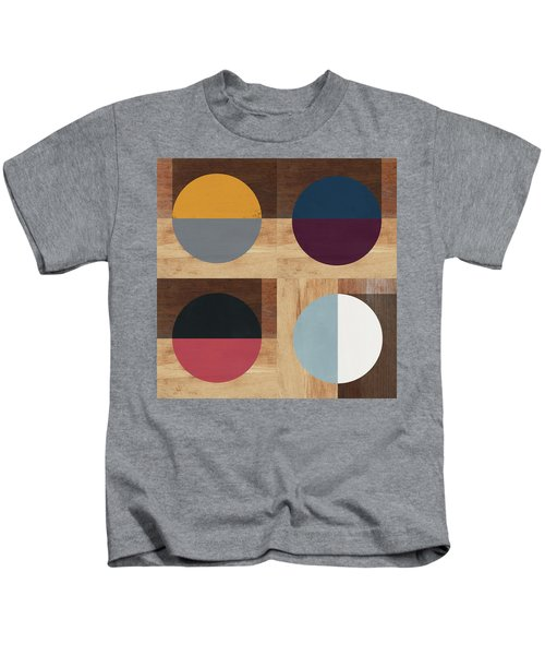 Cirkel Quad- Art By Linda Woods Kids T-Shirt