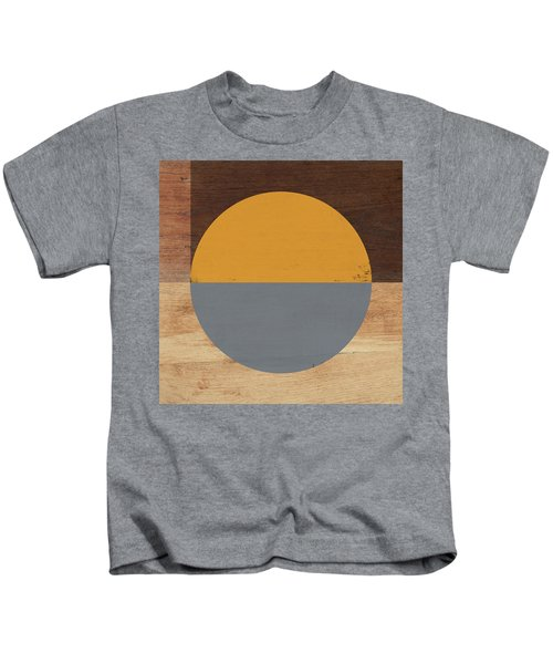 Cirkel Yellow And Grey- Art By Linda Woods Kids T-Shirt