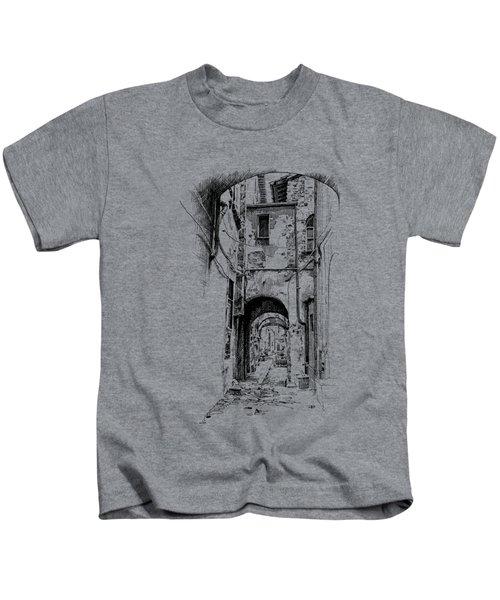 Citta Di Castello Dip Pen Sketch Kids T-Shirt