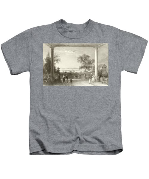 City And Lake Of Constance From The Chateau Wolfsberg Kids T-Shirt