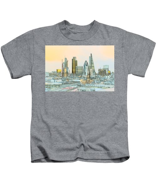 City Of London Outline Poster  Kids T-Shirt
