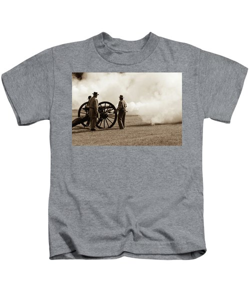 Civil War Era Cannon Firing  Kids T-Shirt