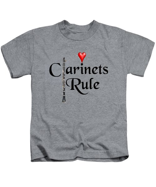 Clarinets Rule Kids T-Shirt