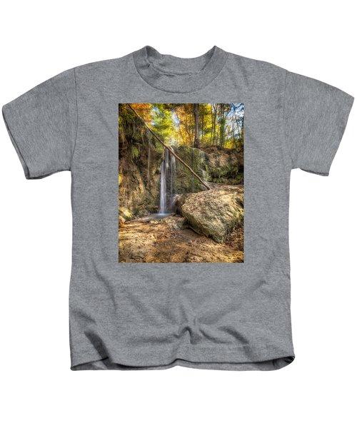Clark Creek Nature Area Waterfall No. 1 Kids T-Shirt
