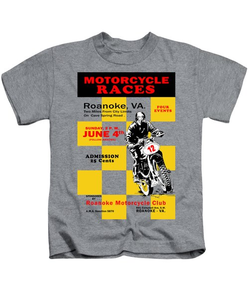 Classic Motorcycle Races Roanoke Virginia Kids T-Shirt