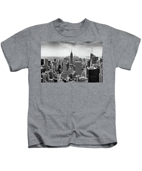 Classic New York  Kids T-Shirt by Az Jackson