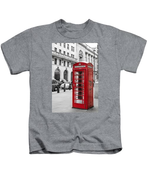 Red Telephone Box In London England Kids T-Shirt