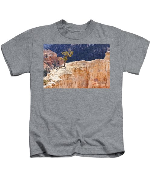 Clinging To The Top Of The Wall Kids T-Shirt