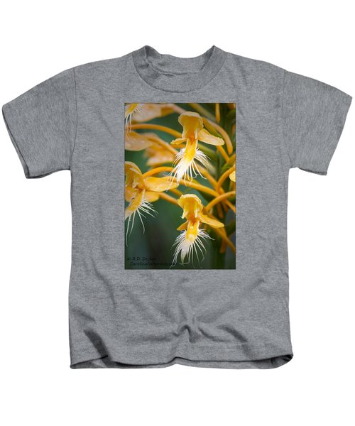 Close-up Of Yellow Fringed Orchid Kids T-Shirt