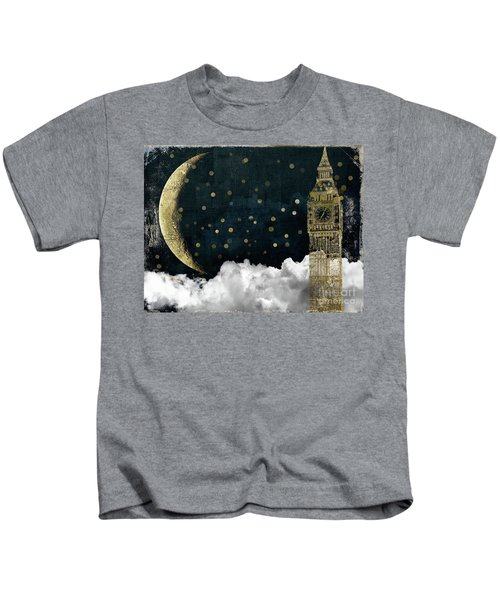 Cloud Cities London Kids T-Shirt by Mindy Sommers