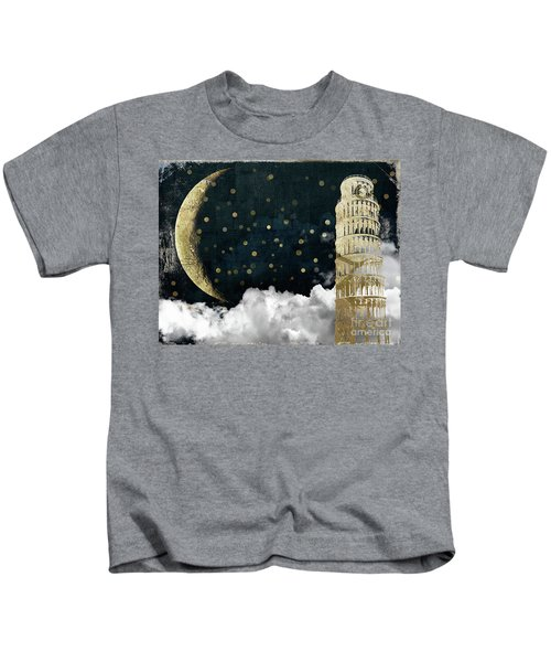 Cloud Cities Pisa Italy Kids T-Shirt by Mindy Sommers