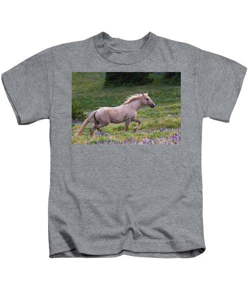 Cloud- Wild Stallion Of The West Kids T-Shirt