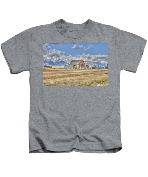 Clouds And Barn Kids T-Shirt