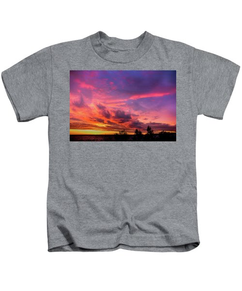 Clouds At Sunset Kids T-Shirt