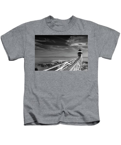 Clouds Over Marshall Point Lighthouse In Maine Kids T-Shirt