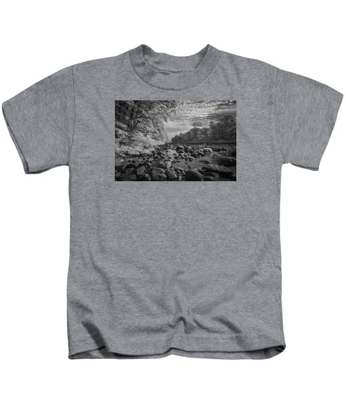 Clouds Over The River Rocks Kids T-Shirt