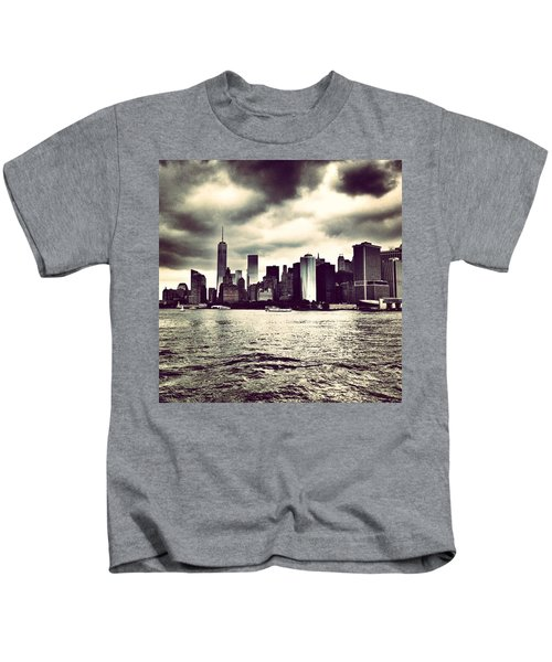 Cloudy Day In #nyc Kids T-Shirt