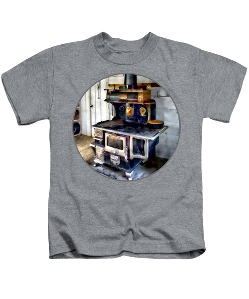 Coal Stove In Kitchen Kids T-Shirt