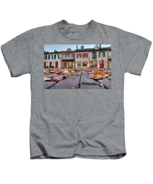 Cobblestone And Leaves Kids T-Shirt