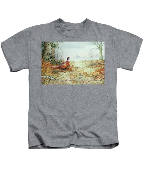 Cock Pheasant  Kids T-Shirt by Carl Donner
