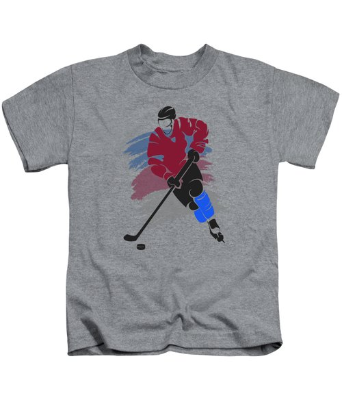 Colorado Avalanche Player Shirt Kids T-Shirt by Joe Hamilton