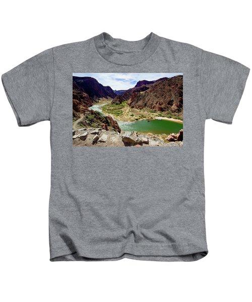 Colorado River Around Boat Beach Kids T-Shirt