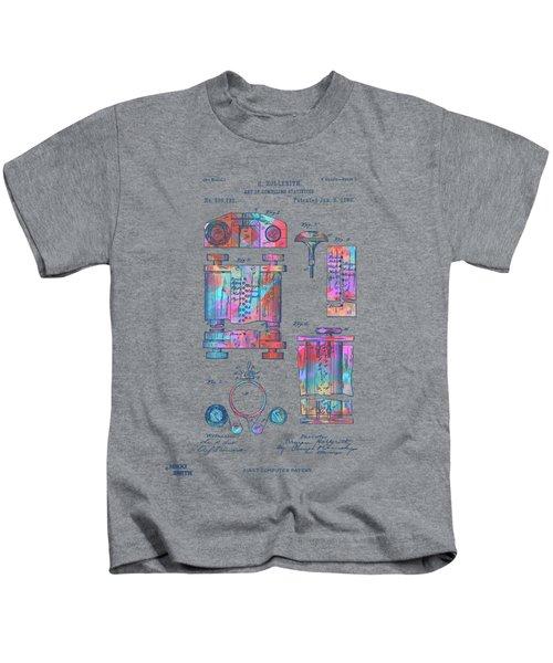 Colorful 1889 First Computer Patent Kids T-Shirt
