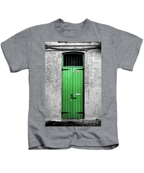 Colorful Arched Doorway French Quarter New Orleans Color Splash Black And White With Ink Outlines Kids T-Shirt