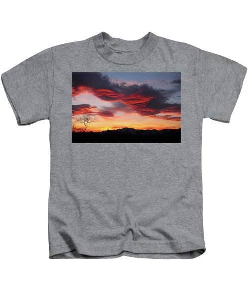 Colorful Dawn Over New Mexico's Peloncillo Mountains Kids T-Shirt