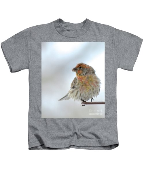 Colorful Finch Eating Breakfast Kids T-Shirt