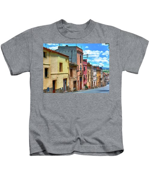 Colorful Old Houses In Tarragona Kids T-Shirt