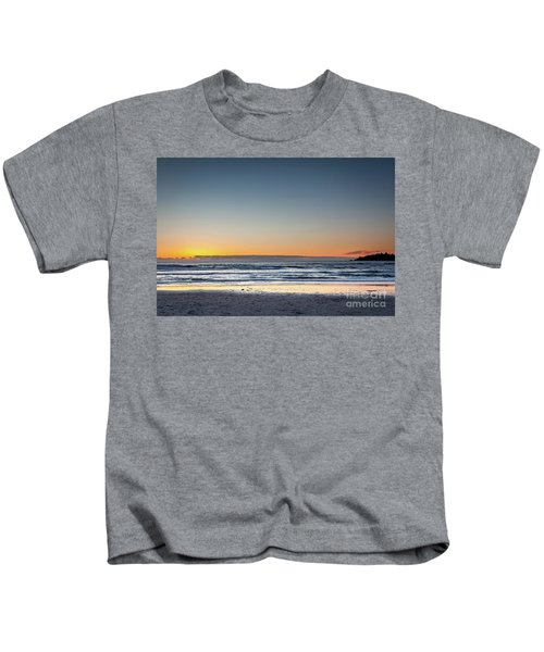 Colorful Sunset Over A Desserted Beach Kids T-Shirt